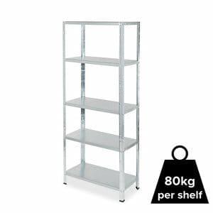 Form Axial 5 shelf Steel Shelving unit (H)1800mm (W)750mm