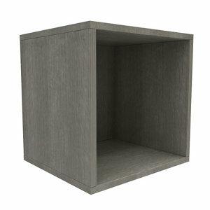 Form Konnect Grey oak effect 1 Cube Shelving unit (H)352mm (W)352mm (D)317mm