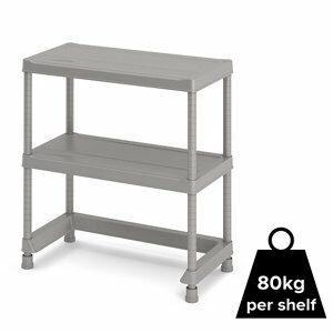 Form Major 2 shelf Polypropylene Shelving unit (H)970mm (W)900mm