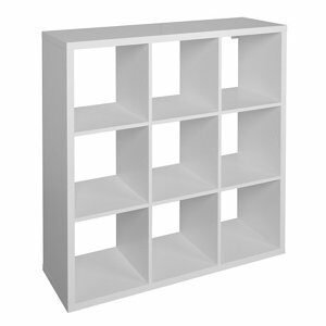 Form Mixxit Gloss white 9 Cube Shelving unit (H)1080mm (W)1080mm (D)330mm