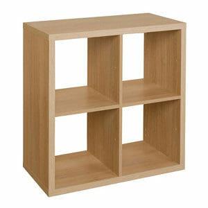 Form Mixxit Oak effect 4 Cube Shelving unit (H)740mm (W)740mm