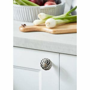 GoodHome Ajika Pewter effect Steel Round Cabinet Handle (L)45mm Pack of 2