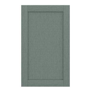 GoodHome Alpinia Matt Green Painted Wood Effect Shaker 50:50 Larder Cabinet door (W)600mm