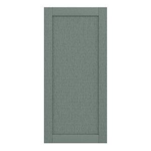 GoodHome Alpinia Matt Green Painted Wood Effect Shaker 70:30 Larder/Fridge Cabinet door (W)600mm