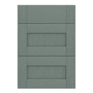 GoodHome Alpinia Matt Green Painted Wood Effect Shaker Drawer front (W)500mm Pack of 3