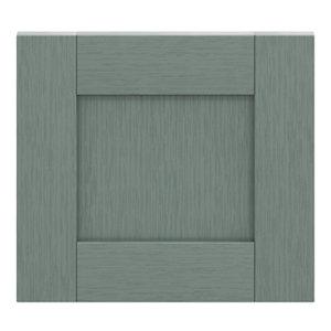 GoodHome Alpinia Matt Green Painted Wood Effect Shaker Drawer front bridging door & bi fold door (W)400mm