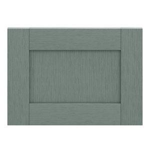 GoodHome Alpinia Matt Green Painted Wood Effect Shaker Drawer front bridging door & bi fold door (W)500mm