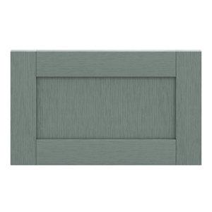 GoodHome Alpinia Matt Green Painted Wood Effect Shaker Drawer front bridging door & bi fold door (W)600mm