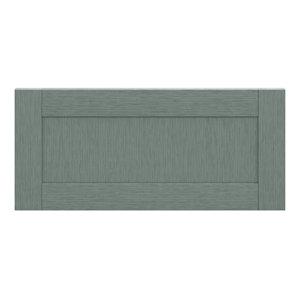 GoodHome Alpinia Matt Green Painted Wood Effect Shaker Drawer front bridging door & bi fold door (W)800mm
