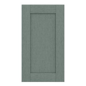 GoodHome Alpinia Matt Green Painted Wood Effect Shaker Highline Cabinet door (W)400mm