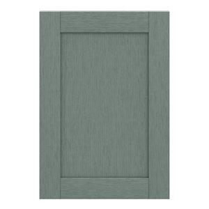 GoodHome Alpinia Matt Green Painted Wood Effect Shaker Highline Cabinet door (W)500mm