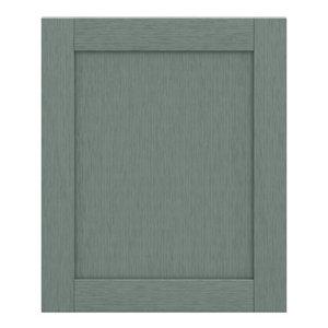 GoodHome Alpinia Matt Green Painted Wood Effect Shaker Highline Cabinet door (W)600mm