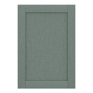 GoodHome Alpinia Matt Green Painted Wood Effect Shaker Tall appliance Cabinet door (W)600mm
