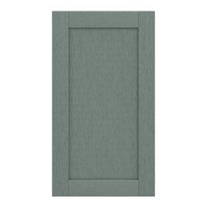 GoodHome Alpinia Matt Green Painted Wood Effect Shaker Tall wall Cabinet door (W)500mm