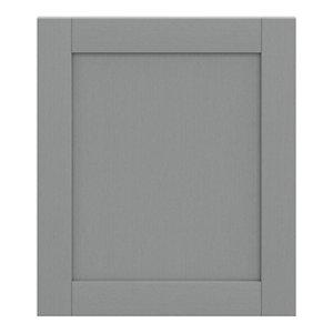 GoodHome Alpinia Matt Slate Grey Painted Wood Effect Shaker Appliance Cabinet door (W)600mm