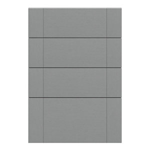 GoodHome Alpinia Matt Slate Grey Painted Wood Effect Shaker Drawer front (W)500mm Pack of 4