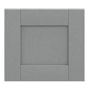 GoodHome Alpinia Matt Slate Grey Painted Wood Effect Shaker Drawer front bridging door & bi fold door (W)400mm