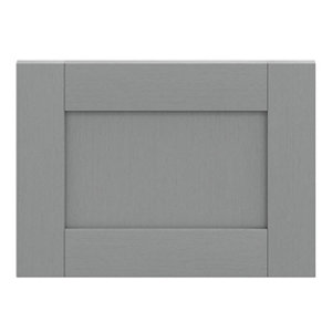 GoodHome Alpinia Matt Slate Grey Painted Wood Effect Shaker Drawer front bridging door & bi fold door (W)500mm