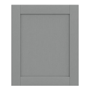GoodHome Alpinia Matt Slate Grey Painted Wood Effect Shaker Highline Cabinet door (W)600mm