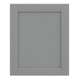 GoodHome Alpinia Matt Slate Grey Painted Wood Effect Shaker Tall appliance Cabinet door (W)600mm