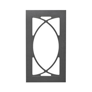 GoodHome Artemisia Matt graphite classic shaker Tall glazed Cabinet door (W)500mm