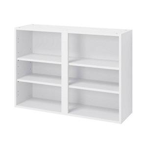 GoodHome Caraway Matt White Standard Wall cabinet (W)1000mm