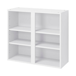 GoodHome Caraway Matt White Standard Wall cabinet (W)800mm