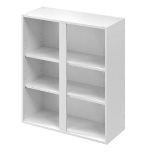 GoodHome Caraway Matt White Tall Wall cabinet (W)800mm