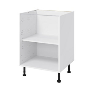 GoodHome Caraway White Base cabinet (W)600mm