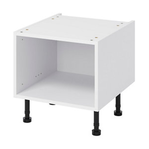 GoodHome Caraway White Half height Base cabinet (W)500mm