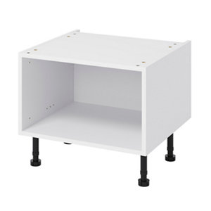 GoodHome Caraway White Half height Base cabinet (W)600mm