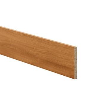GoodHome Chia Horizontal woodgrain effect Square edge Plinth