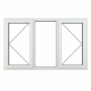 GoodHome Clear Double glazed White uPVC LH Window (H)1115mm (W)1770mm