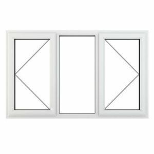 GoodHome Clear Double glazed White uPVC RH Window (H)965mm (W)1770mm