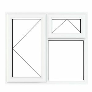GoodHome Clear Double glazed White uPVC Top hung Window (H)1040mm (W)1190mm