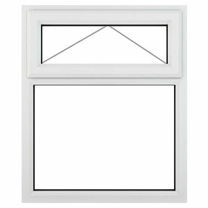 GoodHome Clear Double glazed White uPVC Top hung Window (H)1115mm (W)905mm