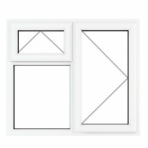 GoodHome Clear Double glazed White uPVC Top hung Window (H)1190mm (W)1190mm