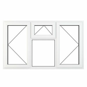 GoodHome Clear Double glazed White uPVC Top hung Window (H)1190mm (W)1770mm