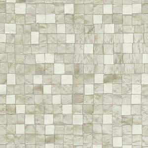 GoodHome Dunni Beige Mosaic Tile effect Textured Wallpaper