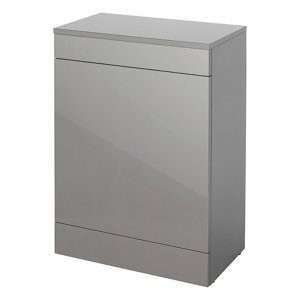 GoodHome Imandra Gloss Anthracite Wall-mounted Bathroom Toilet Cabinet (W)600mm (H)820mm