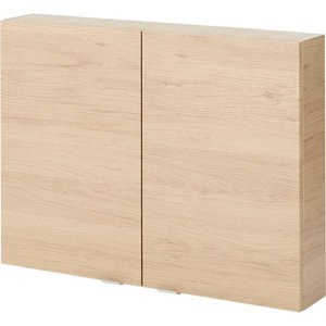 GoodHome Imandra Oak effect Double door Wall Cabinet (W)800mm (H)600mm
