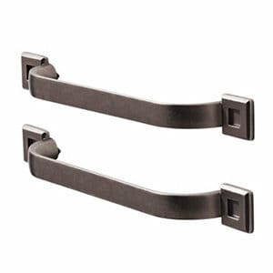 GoodHome Murri Pewter effect Aluminium alloy Bow Cabinet Handle (L)220mm Pack of 2