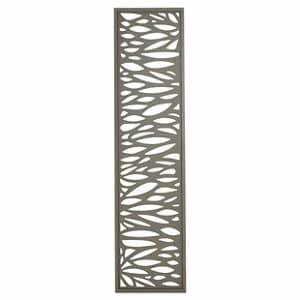 GoodHome Neva Leaf 1/4 Fence panel (W)0.44m (H)1.79m