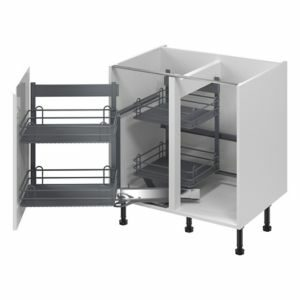 GoodHome Pebre Matt Anthracite Soft-close LH Pull out storage (H)639mm (W)855mm