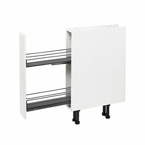 GoodHome Pebre Matt Anthracite Soft close runners Universal Pull out storage (H)530mm (W)107mm