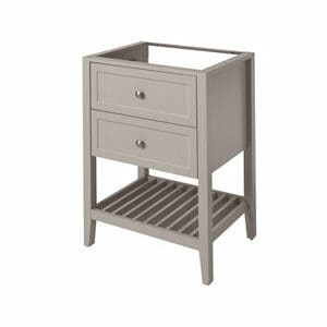 GoodHome Perma Satin Grey Freestanding Bathroom Vanity Cabinet (W)600mm (H)806mm