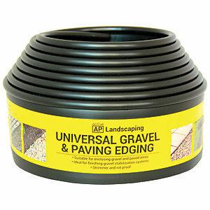 Gravel & Paving Edging Black 5.5m