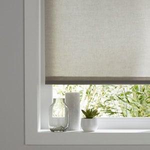 Halo Corded Grey Plain Roller Blind (W)90cm (L)180cm