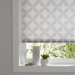 Halo Corded Grey & white Geometric Roller Blind (W)90cm (L)195cm