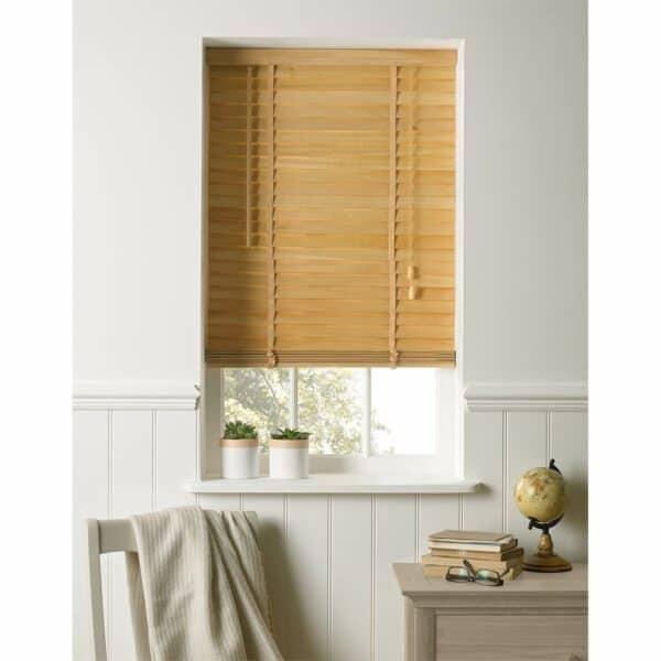 Harrison Drape Natural Wood 35mm Venetian Blind - 60cm